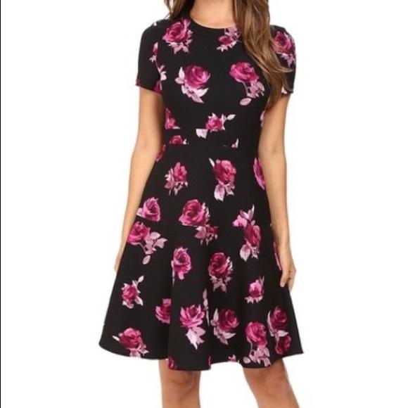 kate spade Dresses & Skirts - Kate Spade Encore Rose Crepe Dress Sz 12 NWT